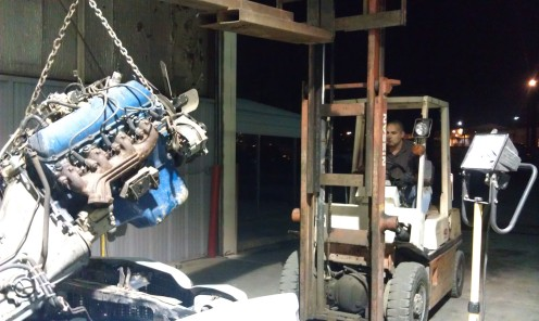 Engine pull from the 79 Ranchero